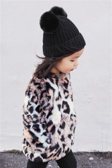 Animal Faux Fur Jacket (12mths-6yrs)