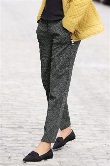 Textured Jersey Taper Trousers