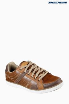 Skechers® Tan Lanson Low Proile Luggage Lace-Up