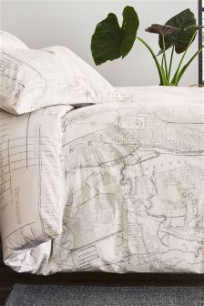 Brooklyn Map Bed Set
