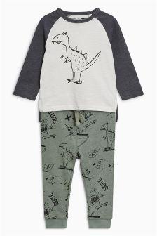 Scribble Dinosaur T-Shirt And Jogger Set (3mths-6yrs)