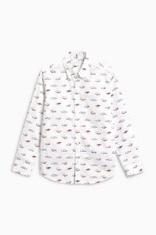Long Sleeve Car Print Shirt (3-16yrs)