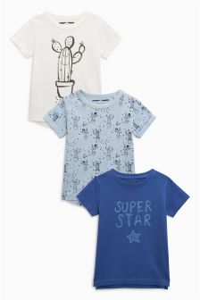 Short Sleeve Cactus T-Shirts Three Pack (3mths-6yrs)