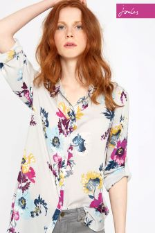 Joules Silver Posy Effie Shirt