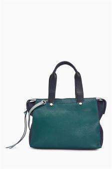 Colourblock Tote Bag