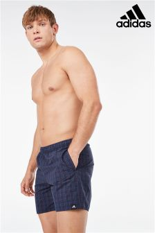 adidas Navy Check Swim Short