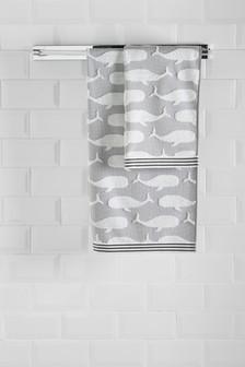 Жаккардовые полотенца с китами