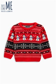 Boys Christmas Snowman Sweater (3mths-6yrs)