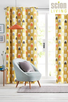 Scion Sula Mustard Curtains