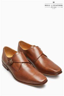Туфли с пряжкой без шнурков