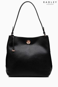 Radley Black Carey Street Large Bucket Hobo Bag