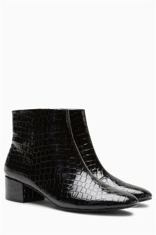 Low Block Heel Boots