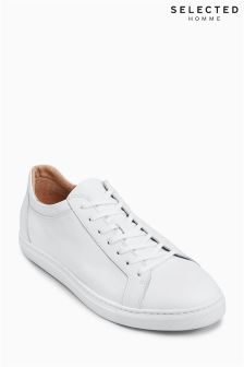 Selected Homme White David Trainer
