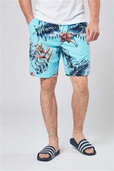 Пляжные шорты с цветочным узором