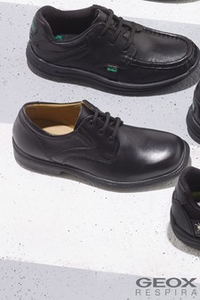 Geox J Federico Black Shoe