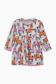 Llama Print Long Sleeve Tunic (3mths-6yrs)
