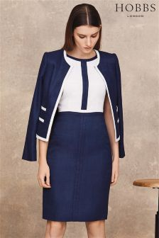Hobbs Ivory/Navy Sorcha Dress