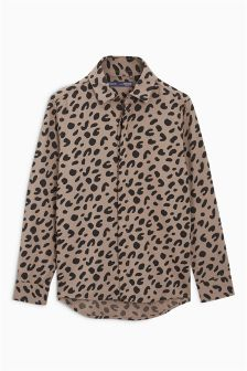 Long Sleeve Animal Print Shirt (3-16yrs)