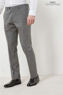 Signature Stripe Slim Fit Suit: Trousers