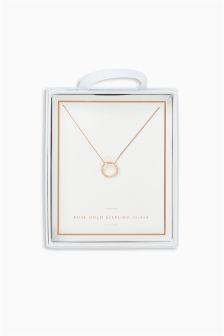 Sparkle Open Circle Necklace