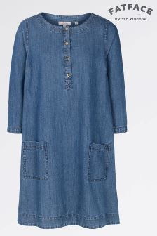 Fat Face Denim Livvy Chambray Dress