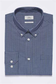 Koszula w kratę o klasycznym kroju z pojedynczym mankietem