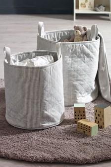 Set Of 2 Storage Tubs