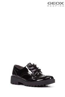 Geox Jr Black Casey Girl Shoe