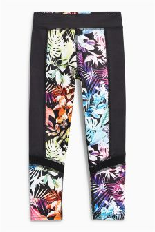 Tropical Sports Print Leggings (3-16yrs)