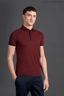 French Connection Burgundy Classic Golf Polo
