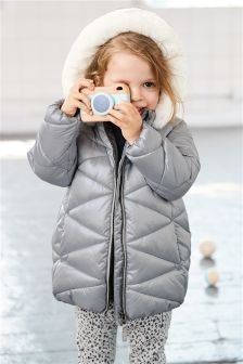 Long Line Padded Jacket (3mths-6yrs)