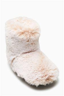 Faux Fur Slipper Boots (Older Girls)