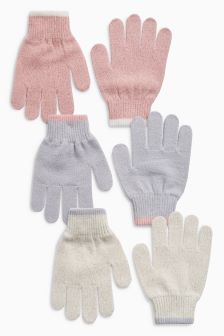 Sparkle Gloves Three Pack (Older Girls)