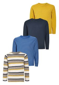 Long Sleeve Tops Four Pack (3-16yrs)