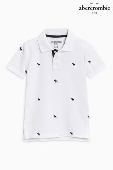 Abercrombie & Fitch White Moose Polo