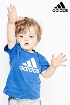 adidas Infant Blue Logo T-Shirt