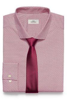 Printed Slim Fit Shirt With Tie Set