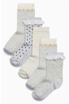 Pretty Socks Five Pack (Older Girls)