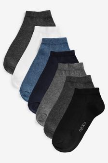 Mixed Trainer Socks Seven Pack (Older Boys)