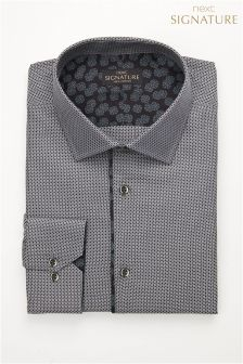 Приталенная рубашка с узором Signature