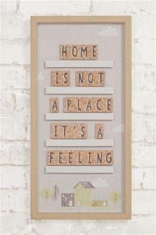 Рамка с 3D плитками Home