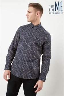 Long Sleeve Ditsy Print Shirt