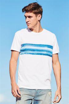 T-shirt met golfstrepen