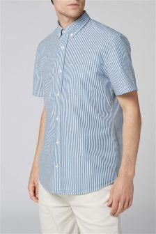 Koszula z krótkim rękawem w paski