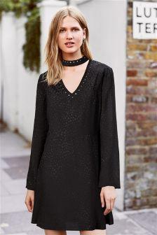 Stud Collar Dress