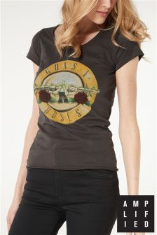 Amplified Black Guns N' Roses Band T-Shirt
