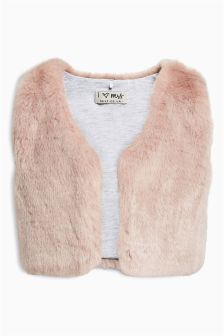 Pink Faux Fur Gilet (3mths-6yrs)