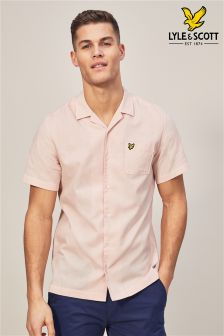 Różowa koszula z krótkim rękawem Lyle & Scott