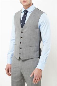Signature Textured Slim Fit Suit: Waistcoat