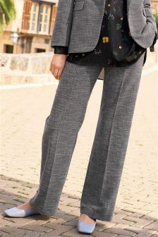 Textured Slouch Trousers